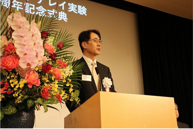 研究共同代表者が所属する大坂市立大学の櫻木・理事兼副学長も挨拶