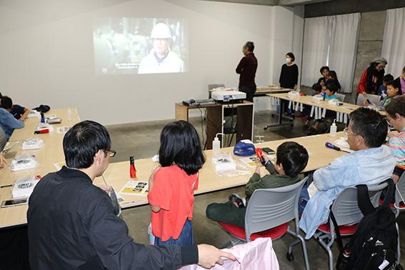 霧箱ワークショップが行われた松戸市観光協会2階の会場