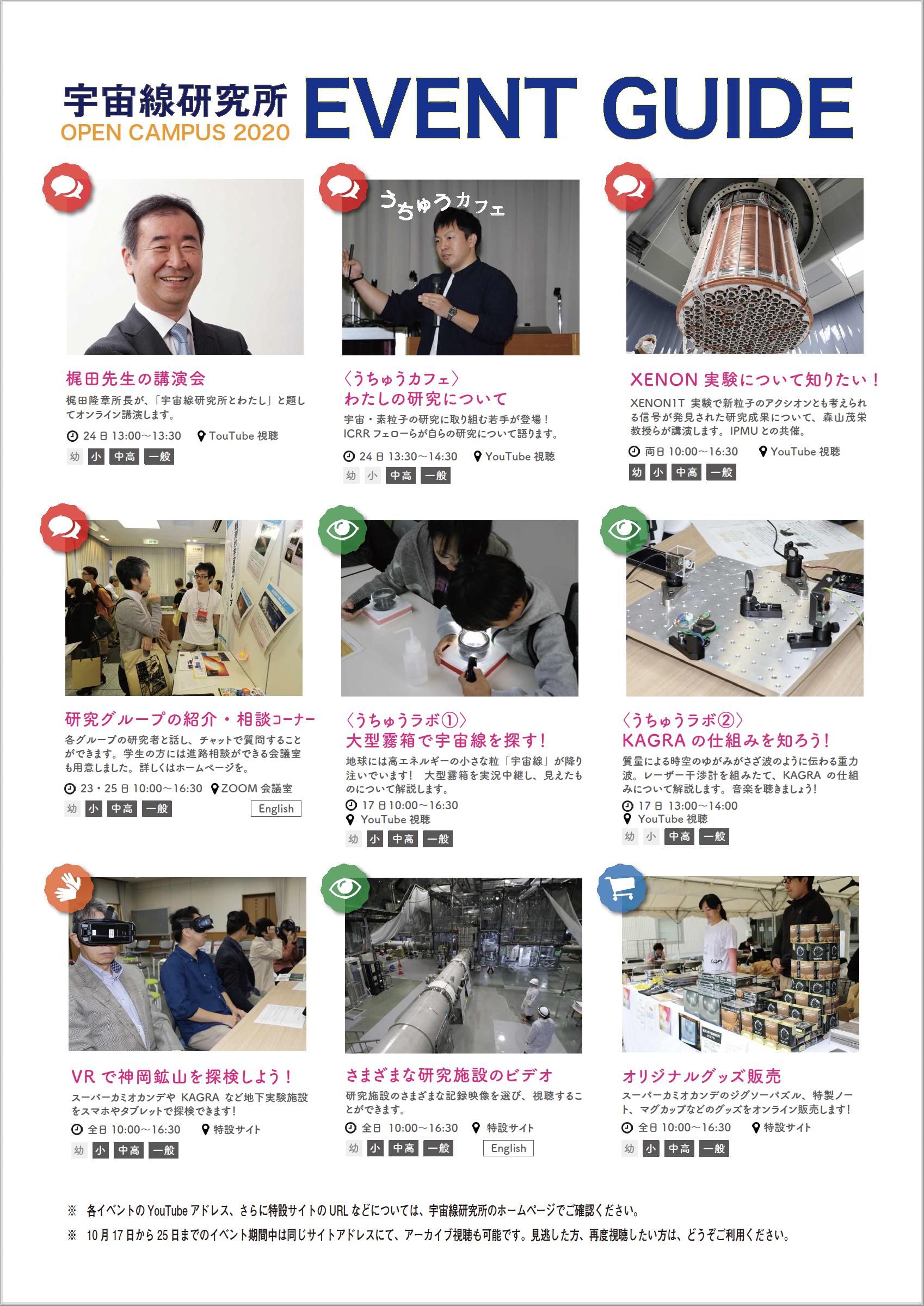 東京大学柏キャンパス オンライン一般公開2020<br>宇宙と素粒子の謎に挑む!